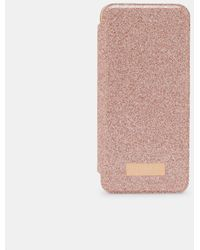 Ted Baker Funda Estilo Libro Glitter Samsung S8 - Rosa
