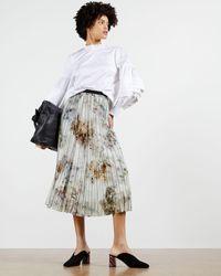 Ted Baker Vanilla Printed Pleated Skirt - White