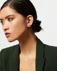 Ted Baker Crystal Bow Stud Earrings - Multicolor