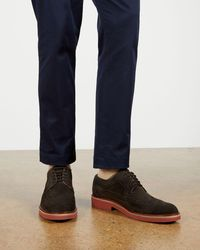 Ted Baker Smart Casual Long Wing Brogue - Brown