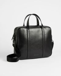 Ted Baker Saffiano Leather Document Bag - Negro