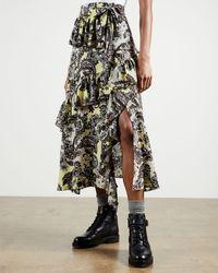 Ted Baker Paisley Printed Midi Skirt - Multicolour