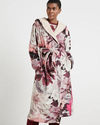 Ted Baker Clove Print Long Robe - Pink
