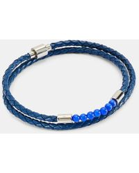 Ted Baker Beaded Leather Wrap Bracelet - Blue