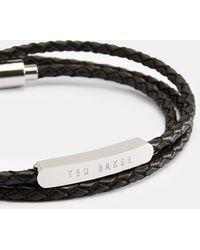 Ted Baker Triple Wrap Leather Bracelet - Black
