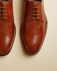 Ted Baker Leather Derby Shoes - Brown