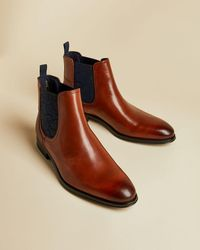 Ted Baker Leather Chelsea Boots - Brown