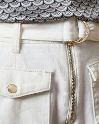 Ted Baker D Ring Patch Pocket Shorts - White