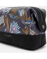 52f91faee344 Lyst - Ted Baker Large Bow Wash Bag in Black for Men