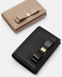 6f57d76e40cc34 Ted Baker Meelar Small Bow Colour Block Matinee Leather Purse in ...