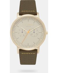 Ted Baker - Woven Leather Strap Watch - Lyst