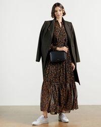 Ted Baker Deco Print Maxi Dress - Black
