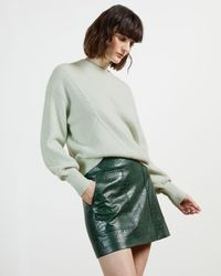 Ted Baker Chunky Long Sleeve Sweater - Green