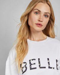 Ted Baker Slogan Printed Sweatshirt - White