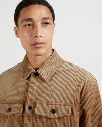 Ted Baker Jumbo Cord Overshirt - Orange