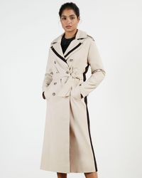 Ted Baker Contrasting Detailed Trench Coat - Natural