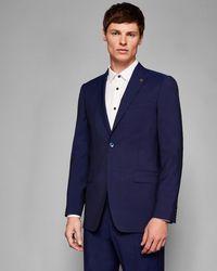 Ted Baker - Debonair Skinny Plain Wool Suit Jacket - Lyst