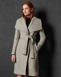 Ted Baker - Statement Collared Wool Coat - Lyst