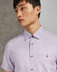 Ted Baker Clion Slim Fit Shirt - Purple