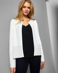 Ted Baker - Ottoman Detail Open Cardigan - Lyst