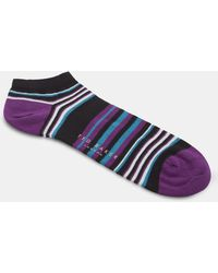Ted Baker - Striped Cotton Trainer Socks - Lyst