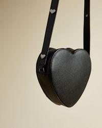 Ted Baker Heart Shaped Leather Cross Body Bag - Black