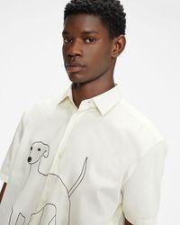 Ted Baker Greyhound Revere Shirt - White