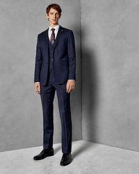 Ted Baker Wool Suit Trousers - Blau