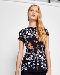 Ted Baker - Kyoto Gardens Fitted T-shirt - Lyst