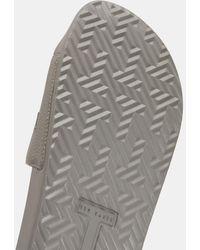 Ted Baker Slipper Mit Baker-logo - Grau