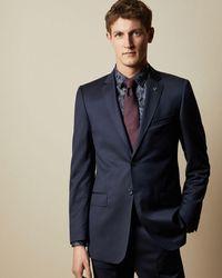 Ted Baker Debonair Classic Fit Wool Jacket - Blue