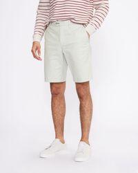 Ted Baker Cotton Chino Shorts - Gray