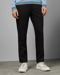 Ted Baker Pantalones Regular Fit Semilisos Con Textura - Gris