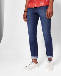 b18f6756e Ted baker Tignus Tapered Fit Jeans in Blue for Men