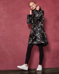Ted Baker - The Orient Printed Parka - Lyst