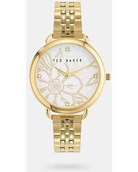 Ted Baker Metal Strap Watch With Crystals From Swarovski® - Metallic