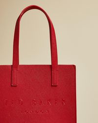 Ted Baker Crosshatch Small Icon Bag - Red