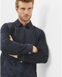 Ted Baker - Suede Collared Jacket - Lyst