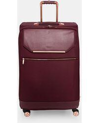 Ted Baker - Metallic Trim Large Suitcase - Lyst