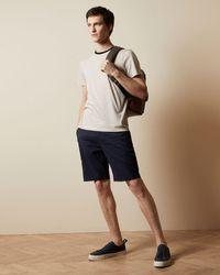 Ted Baker Semi Plain Cotton Shorts - Blue