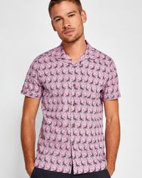 Ted Baker - Giraffe Print Cotton Shirt - Lyst