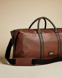 Ted Baker Textured Pu Holdall - Brown