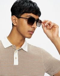 Ted Baker Tbm077 Metal Navigator Sunglasses - Multicolor