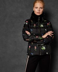 d93a4cc0a Florence Printed Down Jacket - Black