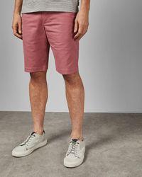 Ted Baker Pantalones Cortos Tall De Algodón Estilo Chino - Rosa