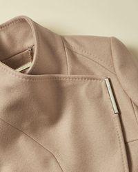 Ted Baker Rytaa Wrap Wool-blend Coat - Natural