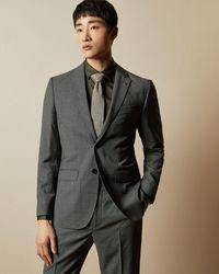 Ted Baker Wool Birdseye Suit Jacket - Gray