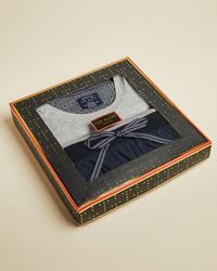Ted Baker Cotton Pajama Gift Set - Gray