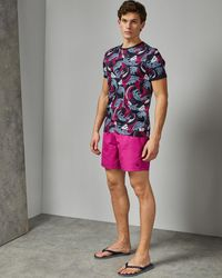 Ted Baker Plain Swim Shorts With Pocket - Pink