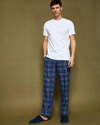 Ted Baker Checked Cotton Pyjama Set - Blue